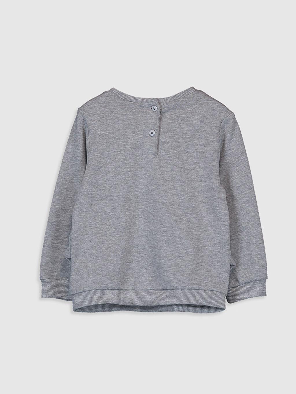 %70 Pamuk %30 Polyester  Kız Bebek Fırfırlı Kalın Sweatshirt