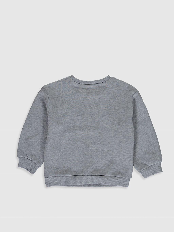 %44 Pamuk %56 Polyester  Kız Bebek Baskılı Sweatshirt