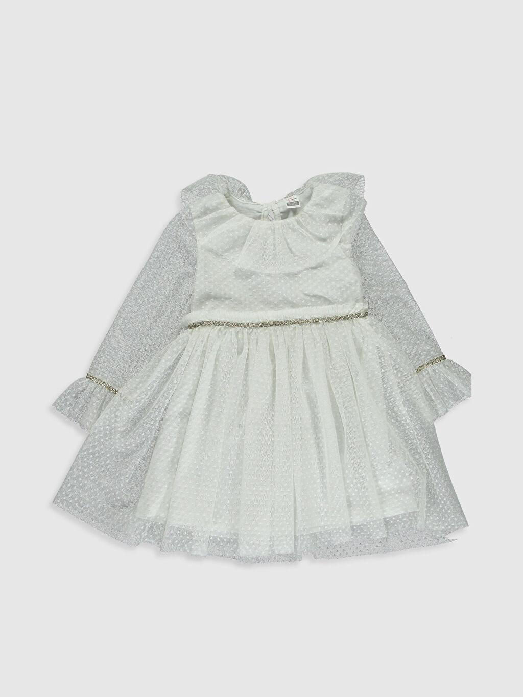 Ekru Kız Bebek Tül Elbise 0SB287Z1 LC Waikiki