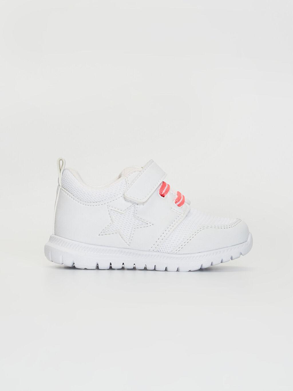 Beyaz Kız Bebek Cırt Cırtlı Aktif Spor Ayakkabı 0SB427Z1 LC Waikiki