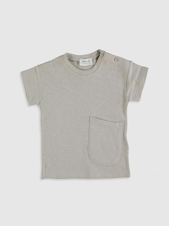 Gri Erkek Bebek Pamuklu Basic Tişört 0SB511Z1 LC Waikiki
