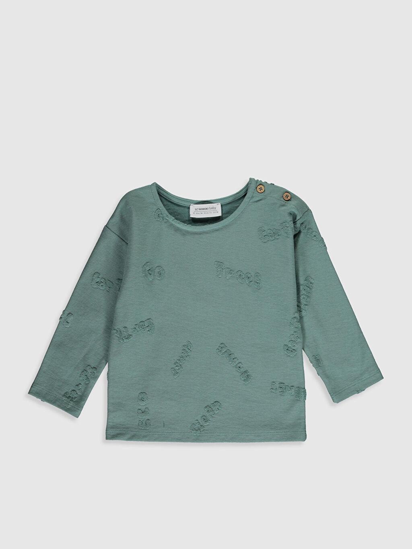 Yeşil Erkek Bebek Baskılı Tişört 0SB513Z1 LC Waikiki