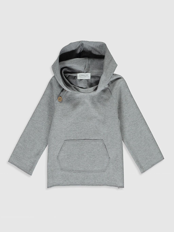 Gri Erkek Bebek Kapüşonlu Sweatshirt 0SB515Z1 LC Waikiki