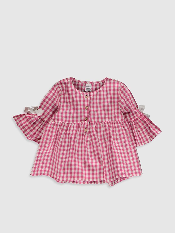 Pembe Kız Bebek Ekose Bluz 0SC264Z1 LC Waikiki