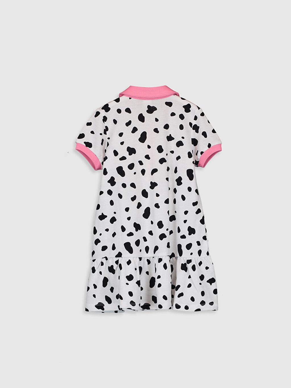 %100 Pamuk Desenli Kız Bebek 101 Dalmaçya Desenli Elbise