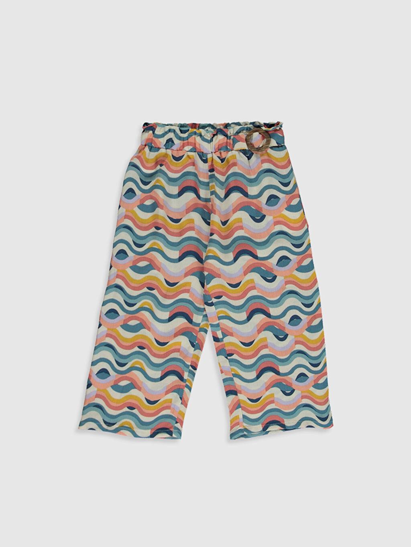 Pembe Kız Bebek İnce Gabardin Pantolon 0SC375Z1 LC Waikiki