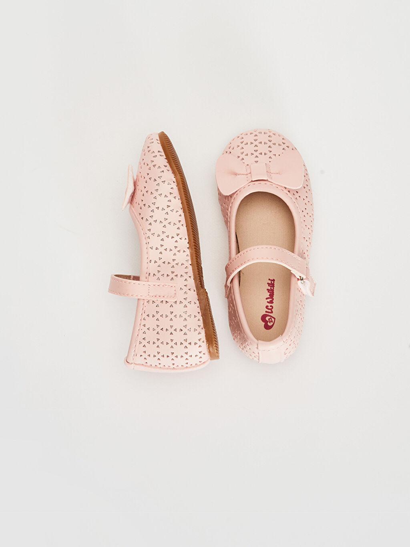%0 Diğer malzeme (pvc)  Kız Bebek Fiyonk Detaylı Babet Ayakkabı