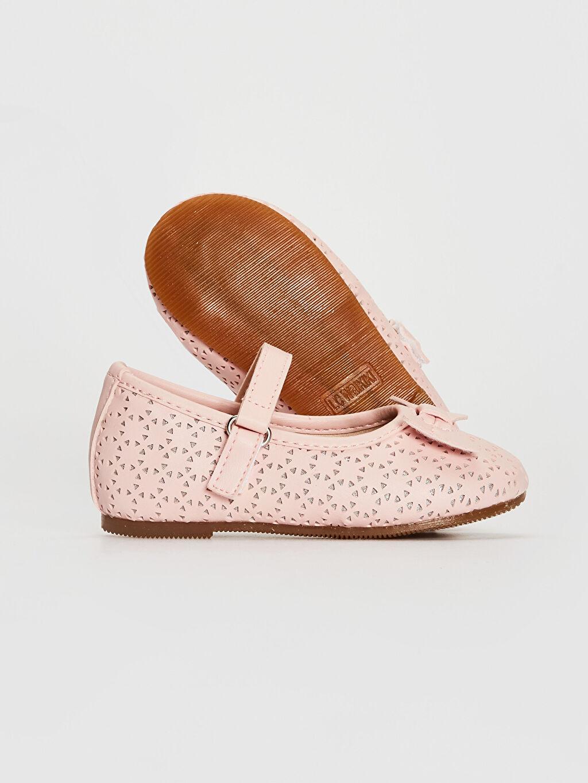 Kız Bebek Kız Bebek Fiyonk Detaylı Babet Ayakkabı