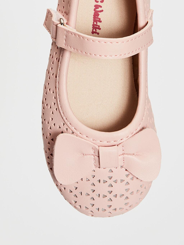 LC Waikiki Pembe Kız Bebek Fiyonk Detaylı Babet Ayakkabı