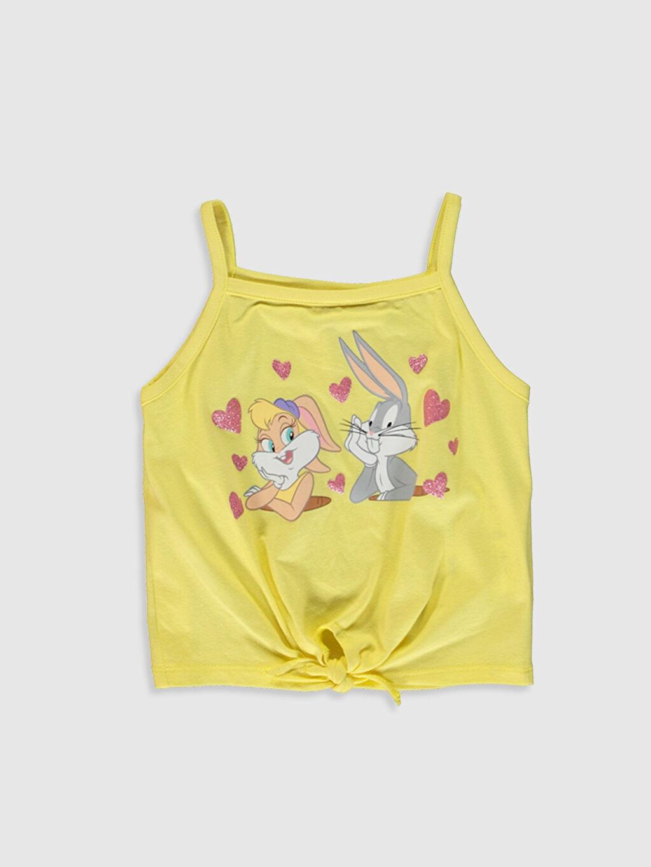 Kız Bebek Kız Bebek Bugs Bunny ve Lola Bunny Baskılı Atlet ve Şort