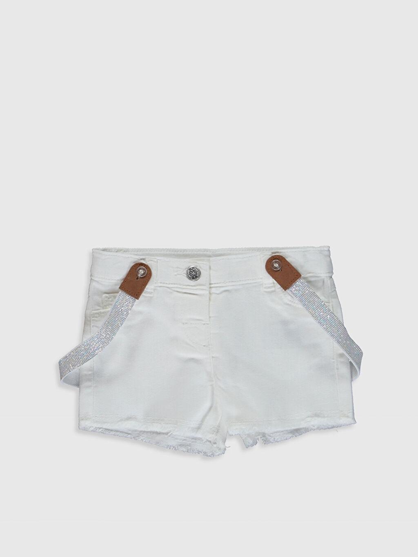 Beyaz Kız Bebek Şort Ve Pantolon Askısı 0SD352Z1 LC Waikiki