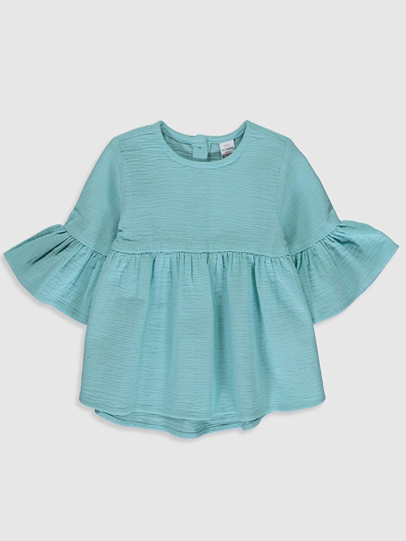 Turkuaz Kız Bebek Basic Bluz 0SD384Z1 LC Waikiki