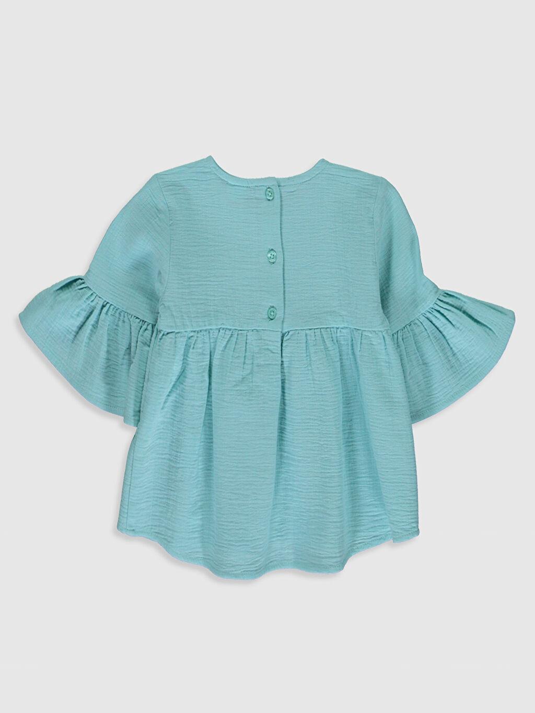 %100 Pamuk Düz Kısa Kol Bluz Standart Kız Bebek Basic Bluz