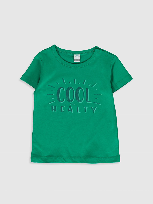 Yeşil Erkek Bebek Baskılı Pamuklu Tişört 0SD533Z1 LC Waikiki