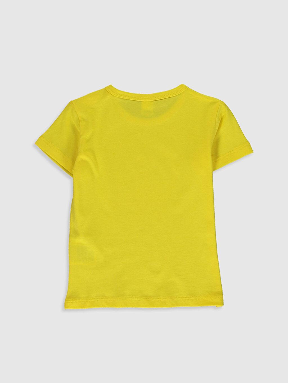 %100 Pamuk Normal Baskılı Kısa Kol Tişört Bisiklet Yaka Erkek Bebek Dinazor Baskılı Pamuklu Tişört