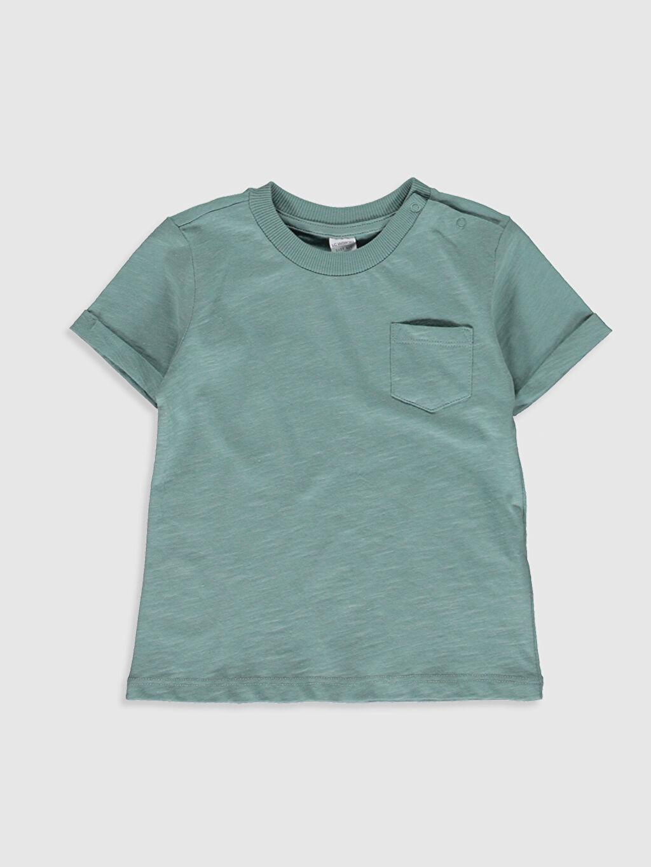 Yeşil Erkek Bebek Basic Pamuklu Tişört 0SD922Z1 LC Waikiki