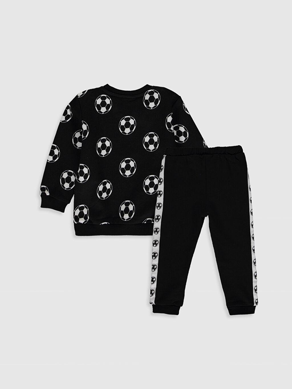 %92 Pamuk %8 Polyester  Erkek Bebek Desenli Sweatshirt ve Pantolon