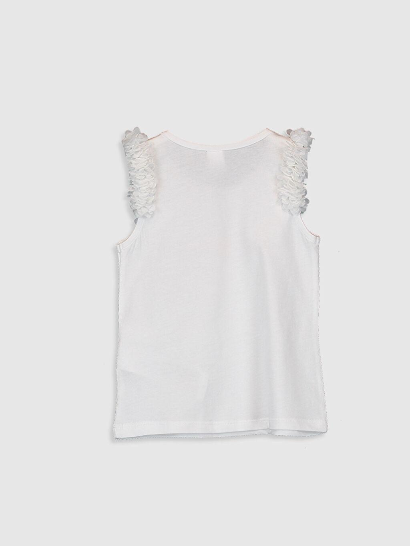 %100 Pamuk Standart Baskılı Kolsuz Tişört Bisiklet Yaka Kız Bebek Pamuklu Tişört