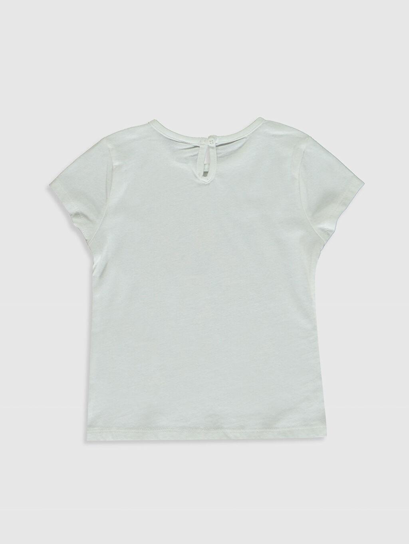 %100 Pamuk Standart Baskılı Kısa Kol Tişört Bisiklet Yaka Kız Bebek Baskılı Pamuklu Tişört