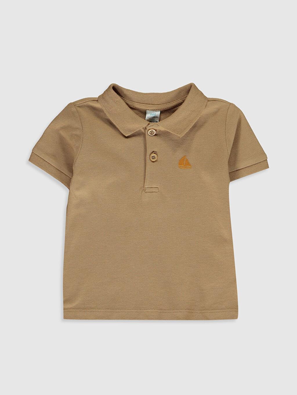 Bej Erkek Bebek Polo Yaka Basic Tişört 0SE606Z1 LC Waikiki