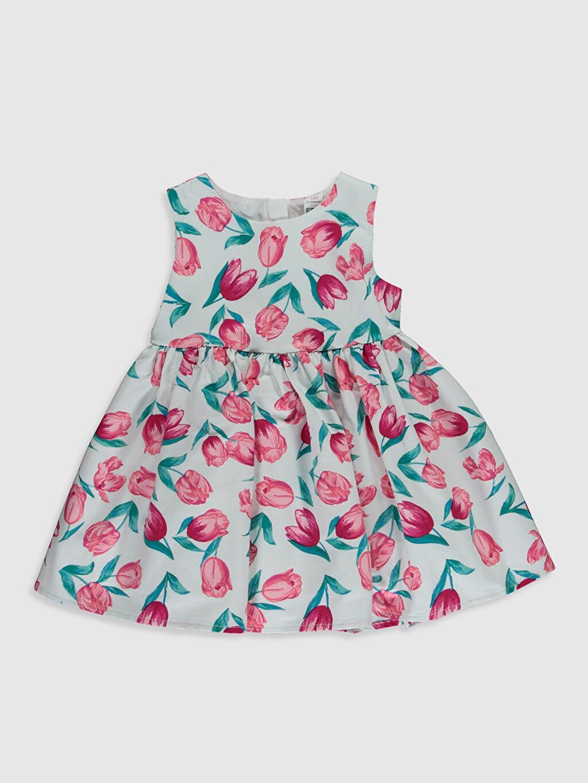 Pembe Kız Bebek Desenli Saten Elbise 0SE665Z1 LC Waikiki