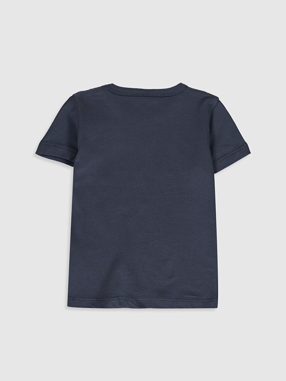 %100 Pamuk Normal Baskılı Kısa Kol Tişört Bisiklet Yaka Erkek Bebek Yazı Baskılı Pamuklu Tişört