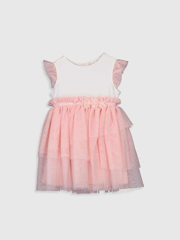 Beyaz Kız Bebek Tül Etekli Elbise 0SF029Z1 LC Waikiki