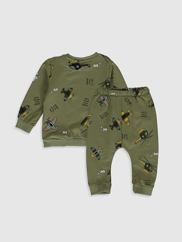%80 Pamuk %20 Polyester %80 Pamuk %20 Polyester  Erkek Bebek Baskılı Sweatshirt ve Pantolon