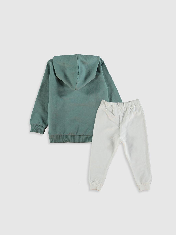 %100 Pamuk %100 Pamuk  Erkek Bebek Sweatshirt ve Eşofman Alt 2'li