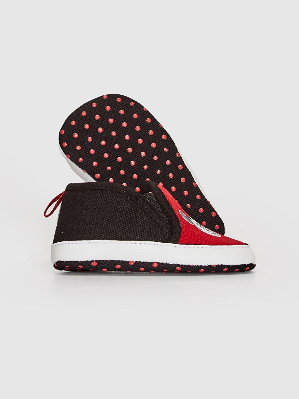 Kırmızı Erkek Bebek Mickey Mouse Baskılı Yürüme Öncesi Ayakkabı