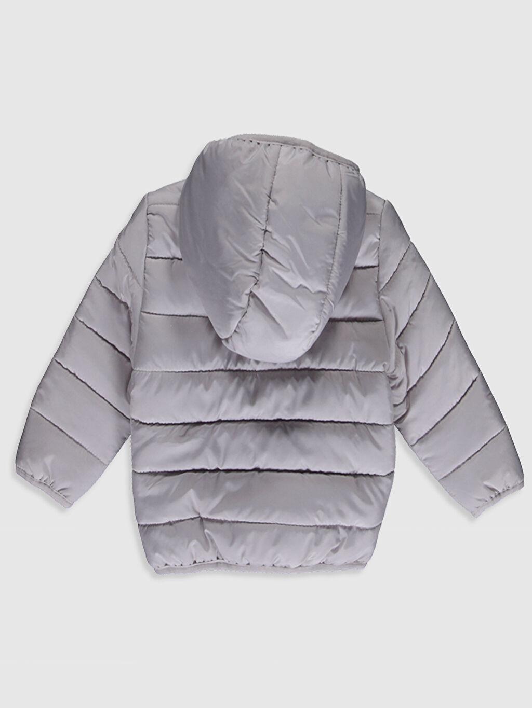 %100 Polyester %50 Pamuk %50 Polyester Orta Mont Erkek Bebek Kapüşonlu Fermuarlı Mont