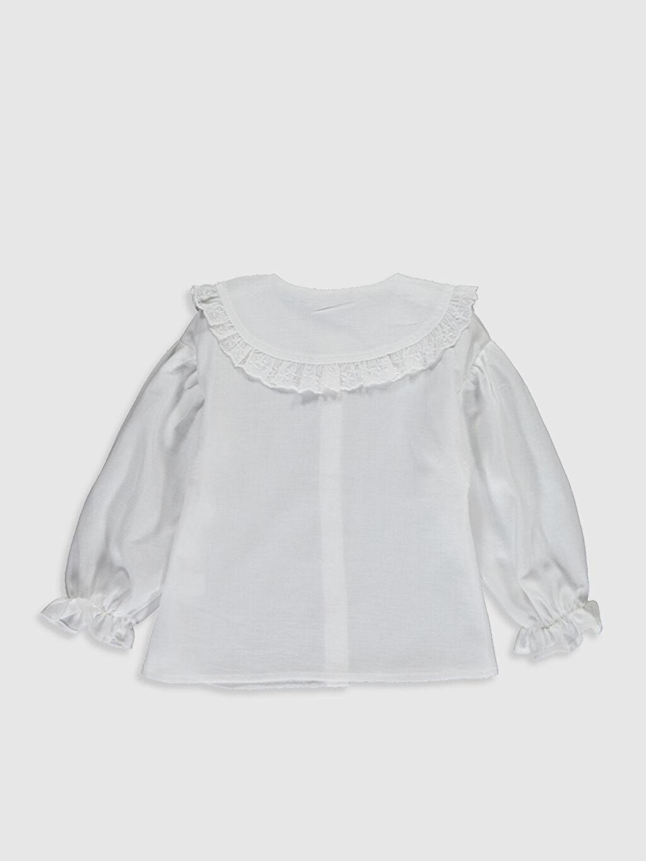 %100 Pamuk  Kız Bebek Twill Gömlek