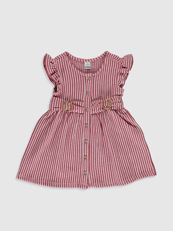 Kırmızı Kız Bebek Çizgili Elbise 0SP629Z1 LC Waikiki