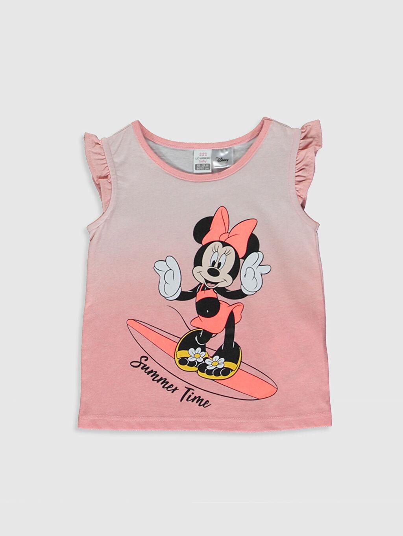 Pembe Kız Bebek Minnie Mouse Baskılı Atlet 0SQ343Z1 LC Waikiki