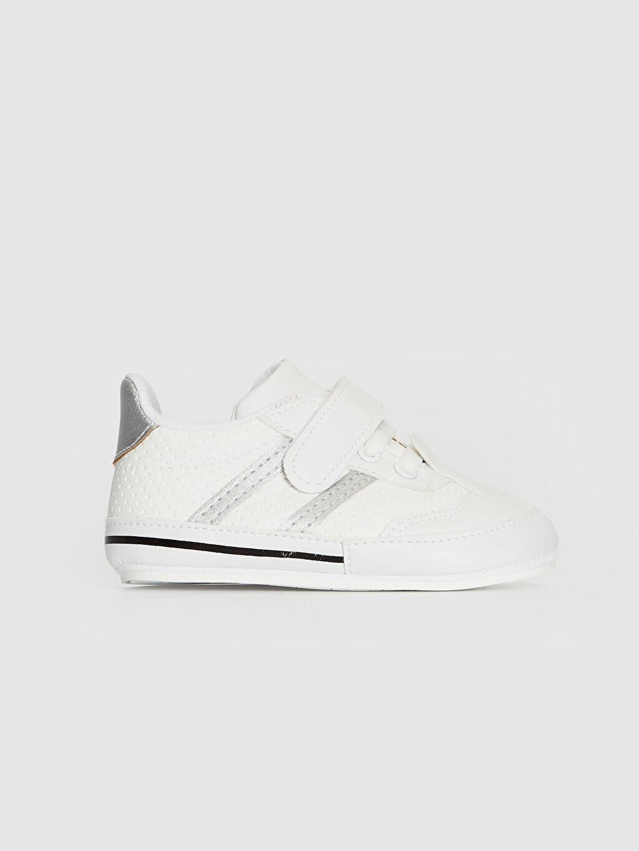 Beyaz Erkek Bebek Cırt Cırtlı Yürüme Öncesi Ayakkabı 0SQ614Z1 LC Waikiki