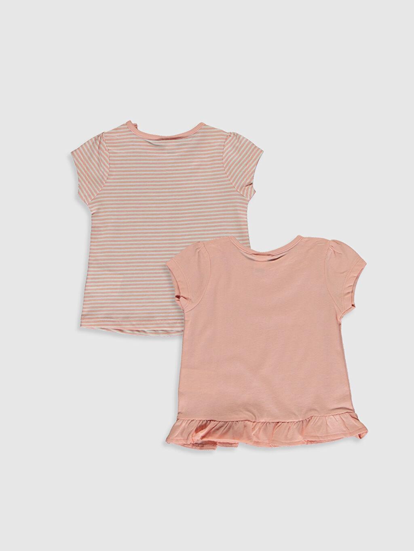 %100 Pamuk  Kız Bebek Baskılı Tişört 2'li