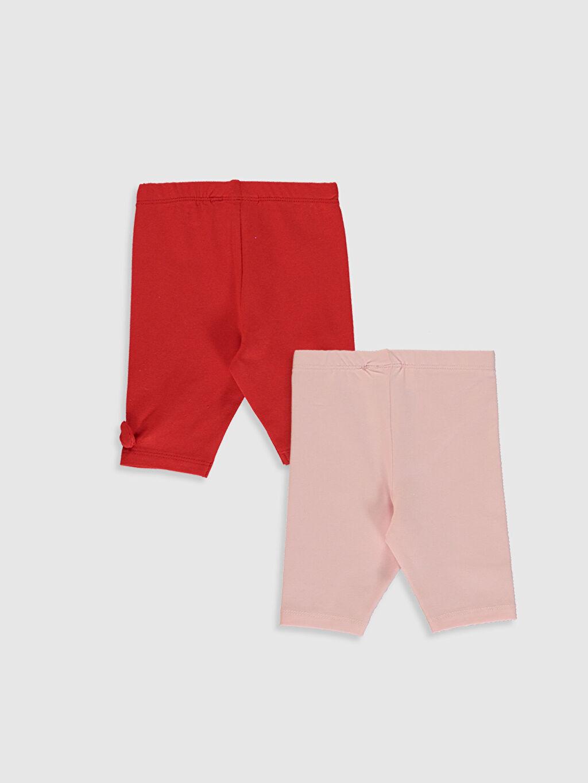 %94 Pamuk %6 Elastan  Kız Bebek Pamuklu Pantolon 2'li