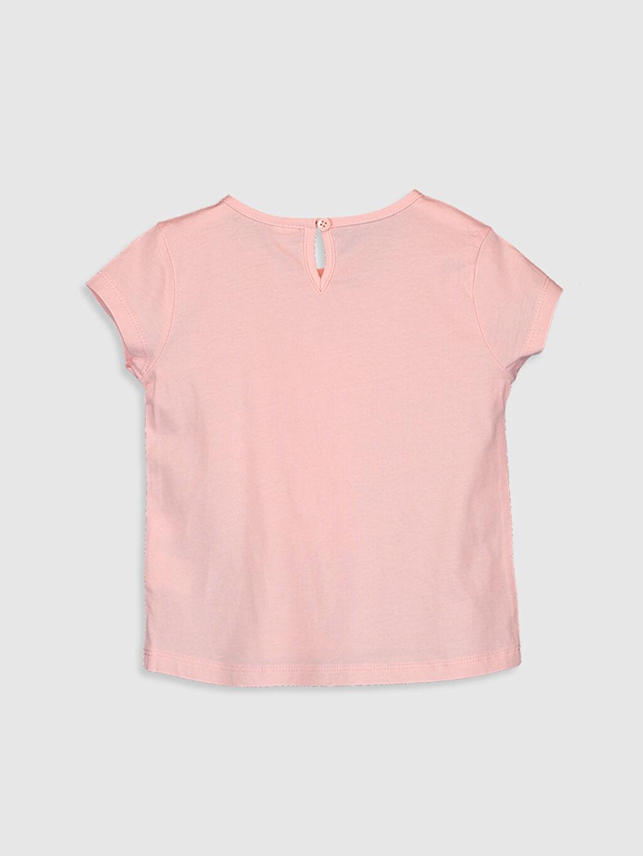 %100 Pamuk Standart Baskılı Tişört Bisiklet Yaka Kız Bebek Baskılı Pamuklu Tişört