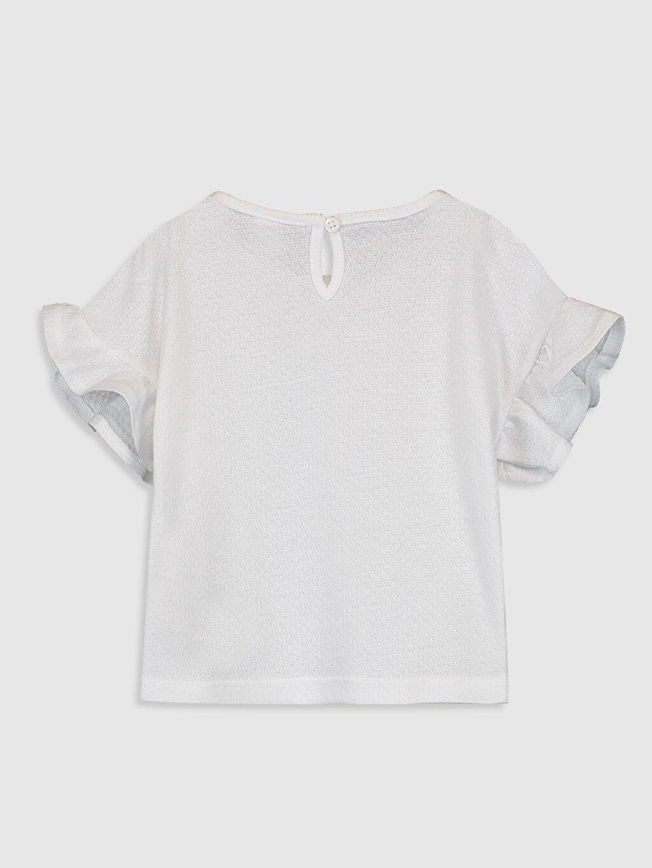 %45 Pamuk %55 Polyester Standart Düz Kısa Kol Tişört Bisiklet Yaka Kız Bebek Basic Tişört