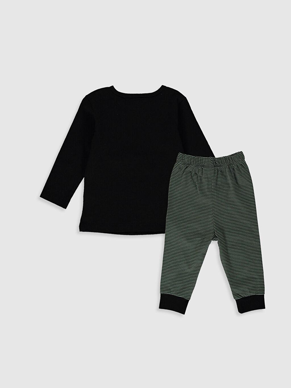 %100 Pamuk %100 Pamuk Standart Pijamalar Erkek Bebek Baskılı Pamuklu Pijama Takımı