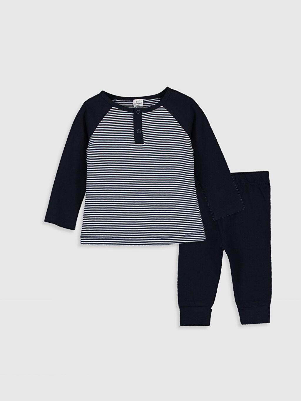 Lacivert Erkek Bebek Pamuklu Pijama Takımı 0SS398Z1 LC Waikiki