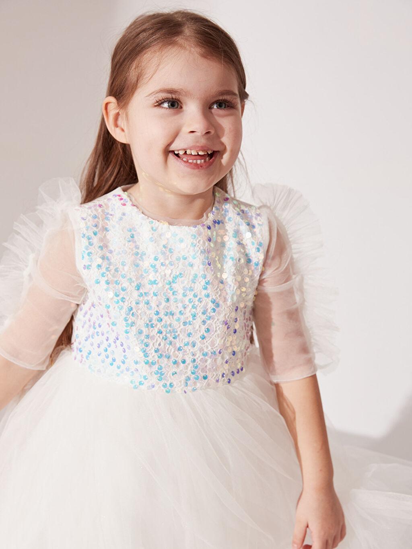 Kız Bebek Daisy Girl Kız Bebek Payetli Abiye Elbise
