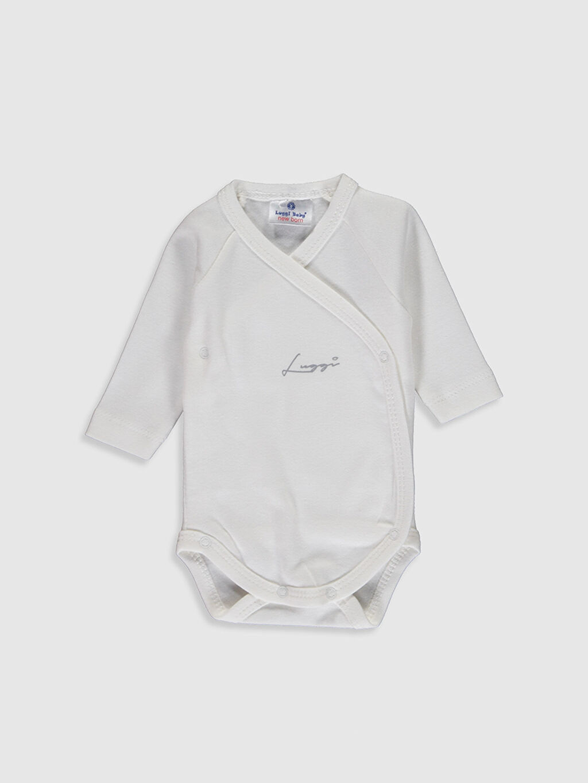 Ekru Luggi Baby Yenidoğan Çıtçıtlı Body 0ST209Z1 LC Waikiki