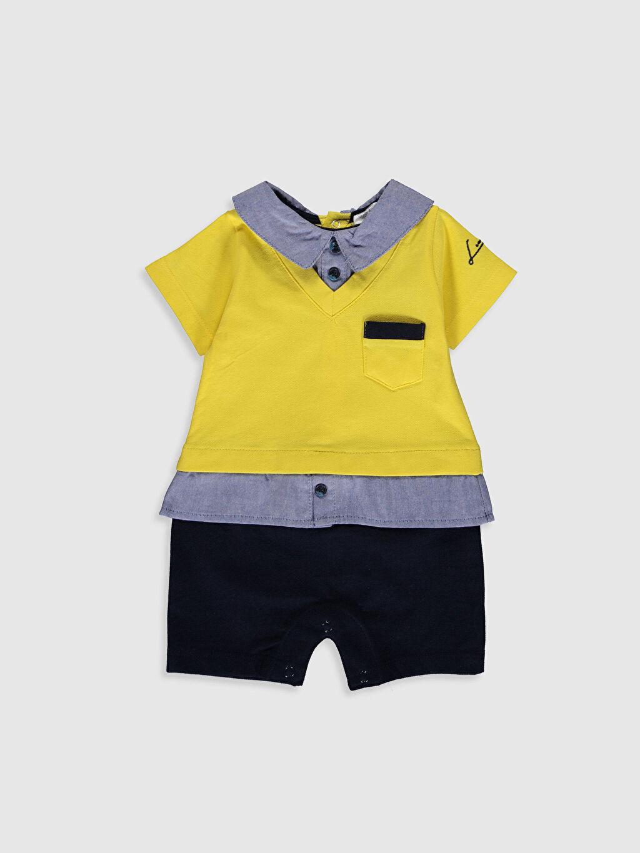 Sarı Luggi Baby Yenidoğan Polo Yaka Tulum 0ST286Z1 LC Waikiki
