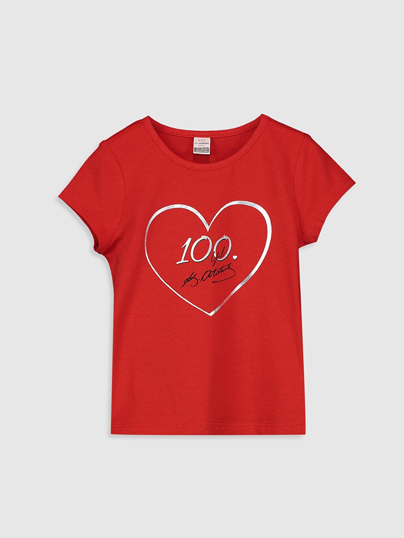 Kırmızı Kız Bebek Atatürk İmza Baskılı Tişört 0SV834Z1 LC Waikiki