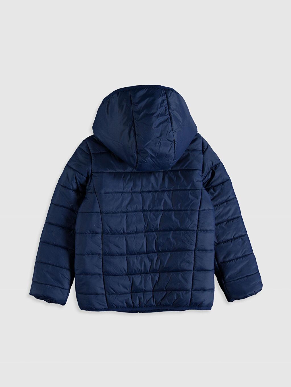 %100 Poliamid %100 Polyester Orta Mont Kız Çocuk Kapüşonlu Şişme Mont