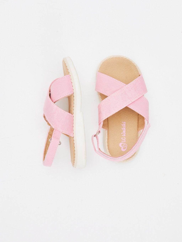 Pembe Kız Bebek Cırt Cırtlı Sandalet 9SI653Z1 LC Waikiki