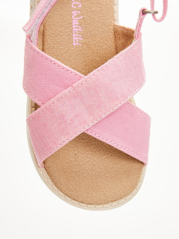 Pembe Kız Bebek Cırt Cırtlı Sandalet