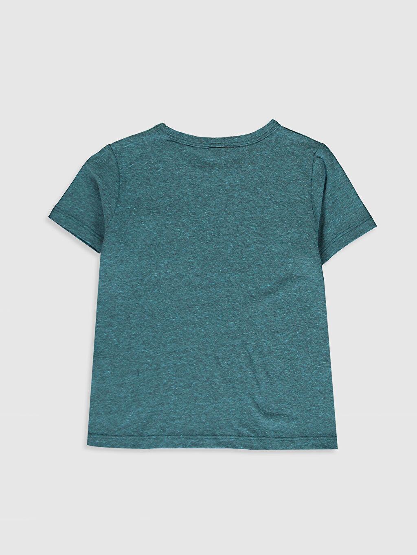 %50 Pamuk %50 Polyester Standart Tişört Bisiklet Yaka Kısa Kol Düz Erkek Çocuk Basic Tişört