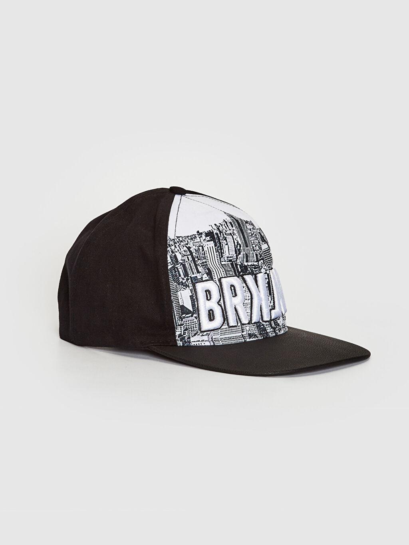 Siyah Nakışlı Hip Hop Şapka 9SC721Z8 LC Waikiki